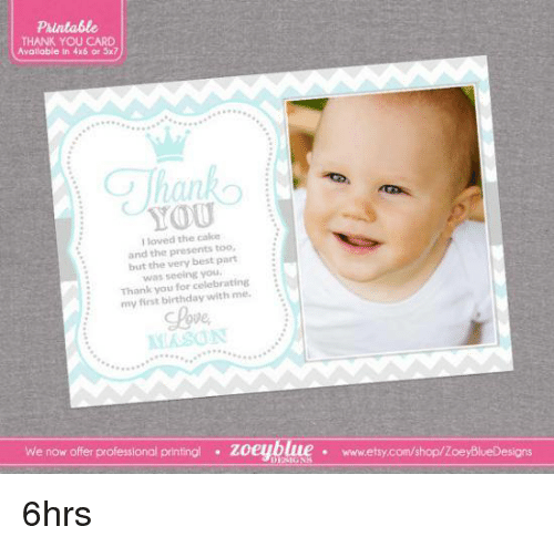 First Birthday Photo Thank You Cards sciencewikisorg – First Birthday Thank You Cards