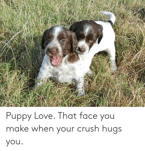 That Face You Make When: Puppy Love. That face you make when your crush hugs you.