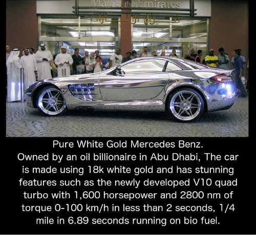 Pure White Gold Mercedes Benz Owned by an Oil Billionaire ...