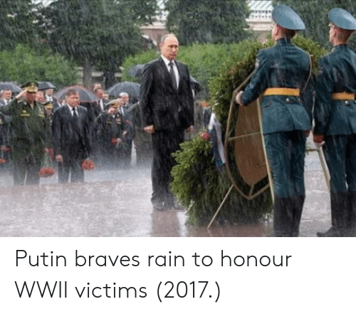 Braves: Putin braves rain to honour WWII victims (2017.)