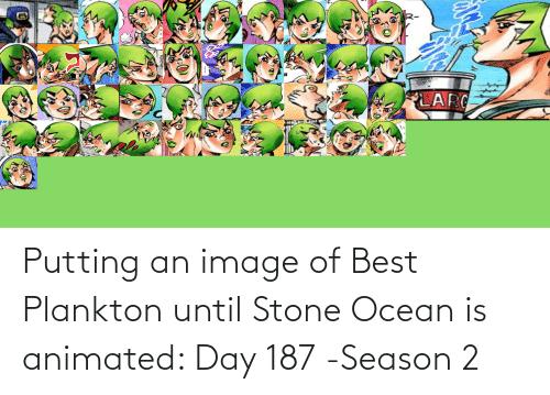 Animated: Putting an image of Best Plankton until Stone Ocean is animated: Day 187 -Season 2