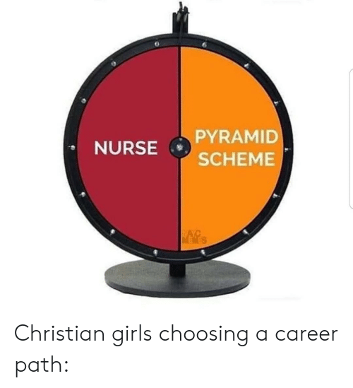 pyramid: PYRAMID  NURSE  SCHEME  NAYC  MEWES Christian girls choosing a career path: