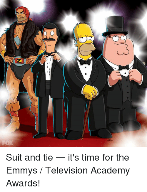 suit and tie: QQQ Suit and tie — it's time for the Emmys / Television Academy Awards!