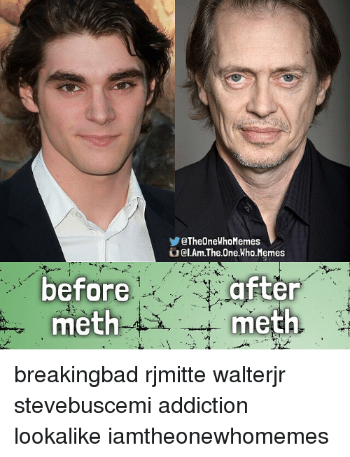 Breaking Bad, Meme, and Memes: QTheOneWhoMemes  al.Am.The One Who Memes  before  after  meth  meth breakingbad rjmitte walterjr stevebuscemi addiction lookalike iamtheonewhomemes