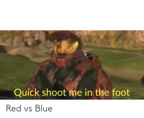 Red vs. Blue: Quick shoot me in the foot Red vs Blue