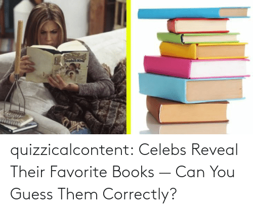 Reveal: quizzicalcontent:    Celebs Reveal Their Favorite Books — Can You Guess Them Correctly?