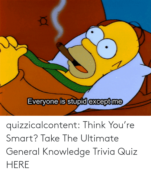 Think You: quizzicalcontent:  Think You're Smart? Take The Ultimate General Knowledge Trivia Quiz HERE
