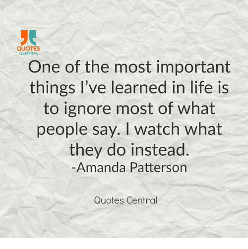 Quotes About Whats Important In Life: QUOTES CENTRAL One Of The Most Important Things I've