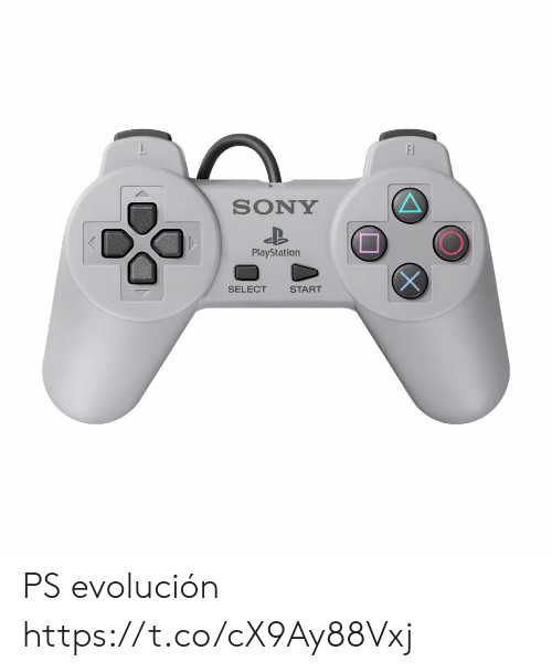sony playstation: R  SONY  PlayStation  SELECT  START PS evolución  https://t.co/cX9Ay88Vxj