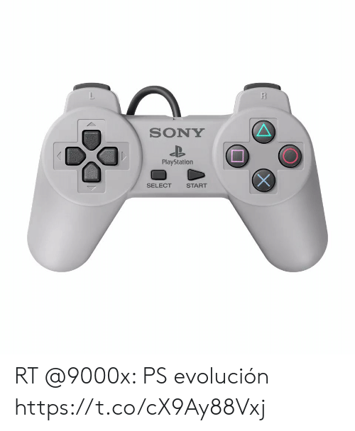 sony playstation: R  SONY  PlayStation  SELECT  START RT @9000x: PS evolución  https://t.co/cX9Ay88Vxj