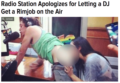 radio station: Radio Station Apologizes for Letting a DJ  Get a Rimjob on the Air  EXPAND