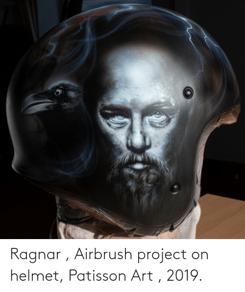 ragnar: Ragnar , Airbrush project on helmet, Patisson Art , 2019.