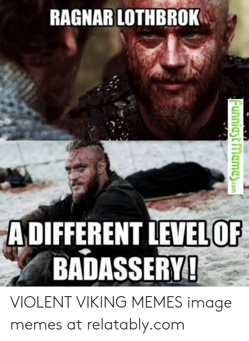 Relatably: RAGNAR LOTHBROK  A DIFFERENT LEVELOF  BADASSERY VIOLENT VIKING MEMES image memes at relatably.com