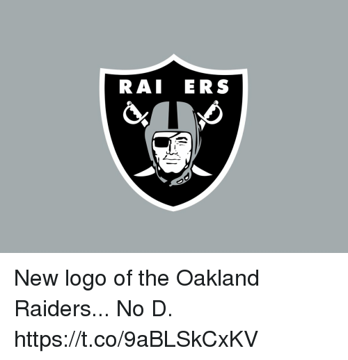 Oakland Raiders: RAI ERS New logo of the Oakland Raiders...  No D. https://t.co/9aBLSkCxKV
