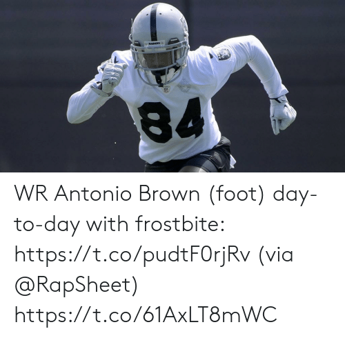 Antonio Brown: RAIDERS WR Antonio Brown (foot) day-to-day with frostbite: https://t.co/pudtF0rjRv (via @RapSheet) https://t.co/61AxLT8mWC