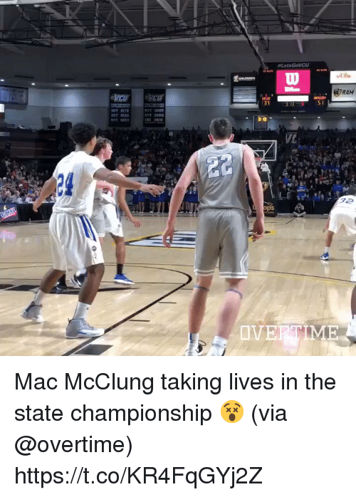 Basketball, White People, and The State: RAM  31  24  OVERTME Mac McClung taking lives in the state championship 😵 (via @overtime) https://t.co/KR4FqGYj2Z