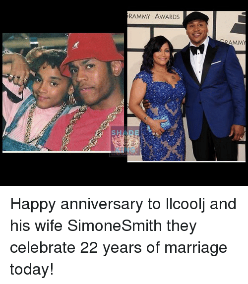 Marriage, Memes, and Happy: RAMMY AWARDS  AMMY Happy anniversary to llcoolj and his wife SimoneSmith they celebrate 22 years of marriage today!