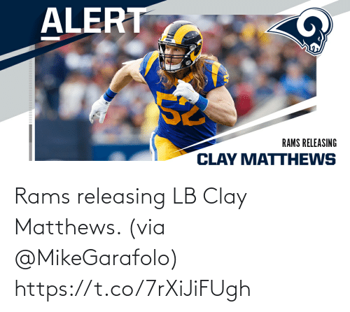 Rams: Rams releasing LB Clay Matthews. (via @MikeGarafolo) https://t.co/7rXiJiFUgh