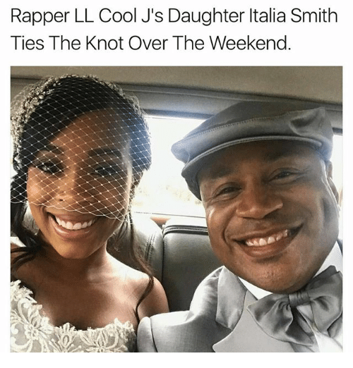 Knotting: Rapper LL Cool J's Daughter ltalia Smith  Ties The Knot Over The Weekend.