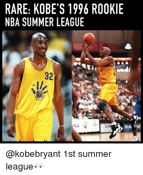 Memes, Nba, and Summer: RARE: KOBE'S 1996 ROOKIE  NBA SUMMER LEAGUE  32 @kobebryant 1st summer league👀