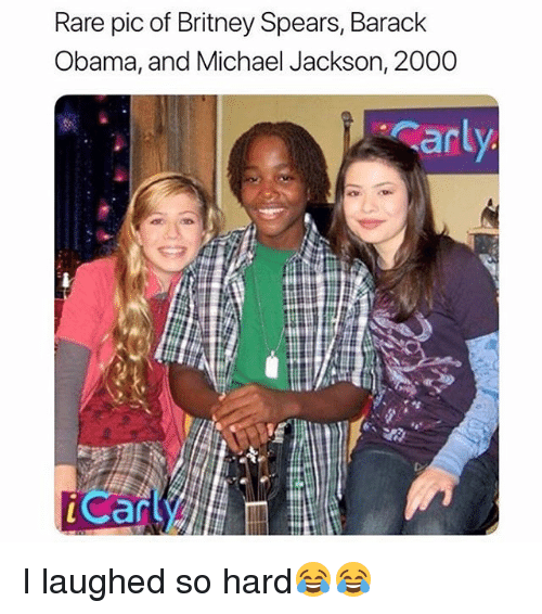 Britney Spears, Funny, and Michael Jackson: Rare pic of Britney SpearS, Barack  Obama, and Michael Jackson, 2000  an  Can I laughed so hard😂😂