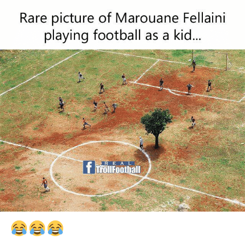 Football, Memes, and Troll: Rare picture of Marouane Fellaini  playing football as a kid  R E A L  T Troll Football 😂😂😂