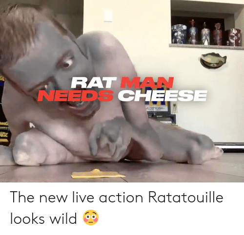 Ratatouille: RAT MAN  NEEDS CHEESE The new live action Ratatouille looks wild 😳