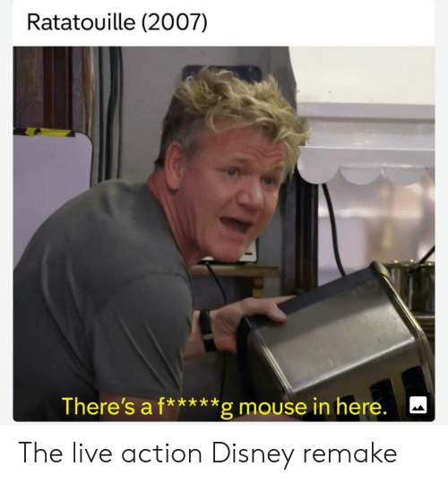 Ratatouille: Ratatouille (2007)  There's a f*****g mouse in here. The live action Disney remake