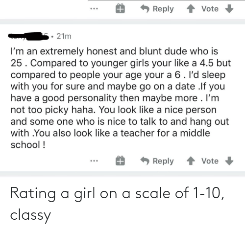 a girl: Rating a girl on a scale of 1-10, classy
