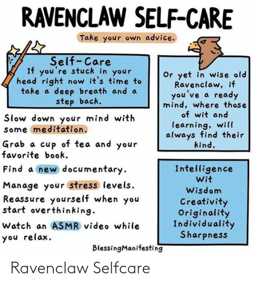 ravenclaw: Ravenclaw Selfcare