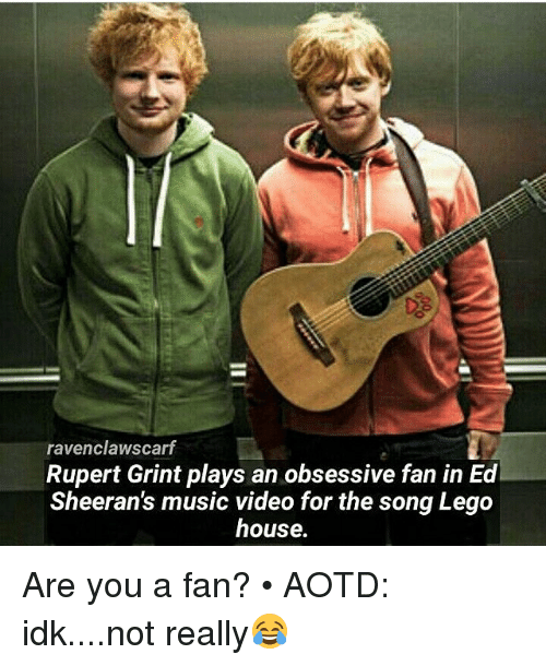 ravenclawscarf rupert grint plays an obsessive fan in ed