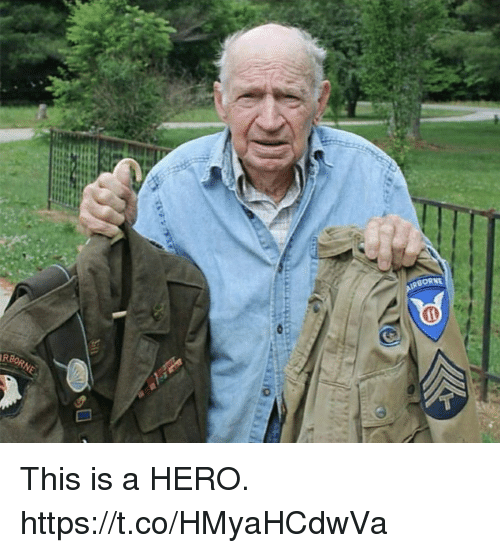 Memes, 🤖, and Hero: RBORNE This is a HERO. https://t.co/HMyaHCdwVa