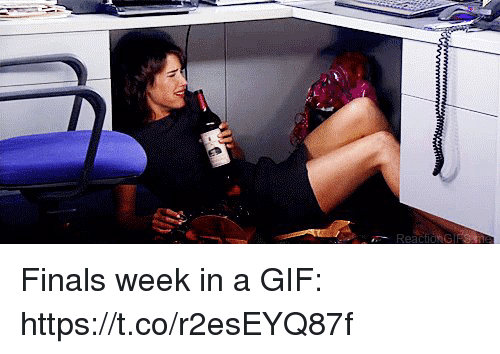 Finals, Gif, and Memes: Reaci Finals week in a GIF: https://t.co/r2esEYQ87f