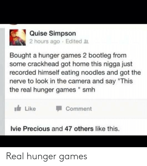 The Hunger Games: Real hunger games