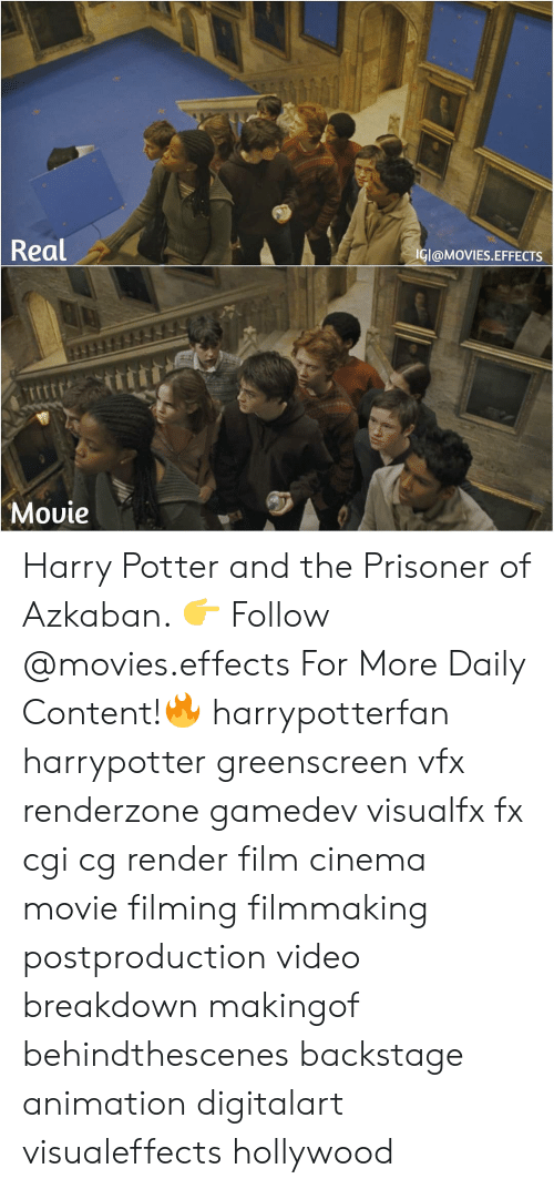 Filmmaking: Real  IGI@MOVIES.EFFECTS  Movie Harry Potter and the Prisoner of Azkaban. 👉 Follow @movies.effects For More Daily Content!🔥 harrypotterfan harrypotter greenscreen vfx renderzone gamedev visualfx fx cgi cg render film cinema movie filming filmmaking postproduction video breakdown makingof behindthescenes backstage animation digitalart visualeffects hollywood