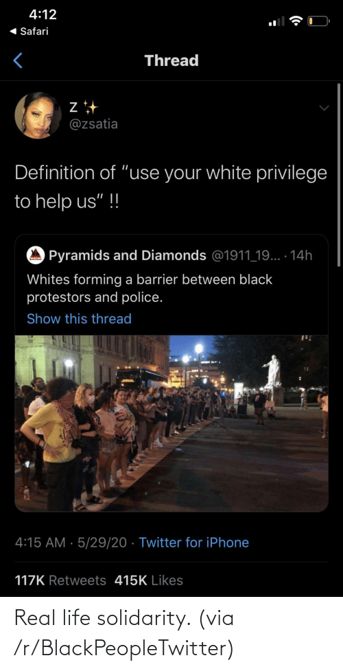 R Blackpeopletwitter: Real life solidarity. (via /r/BlackPeopleTwitter)