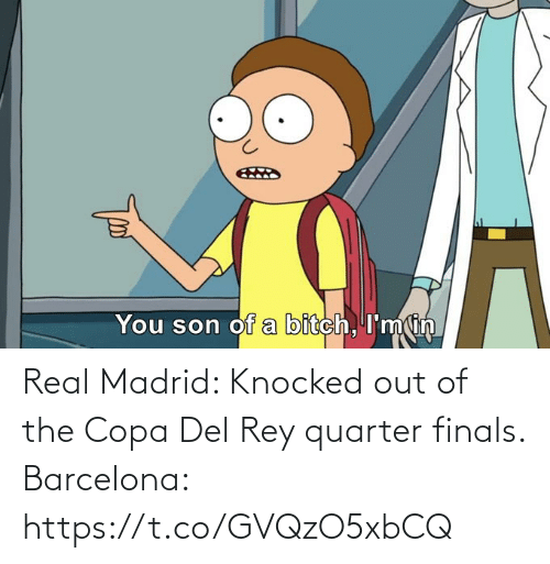 Barcelona: Real Madrid: Knocked out of the Copa Del Rey quarter finals.  Barcelona: https://t.co/GVQzO5xbCQ