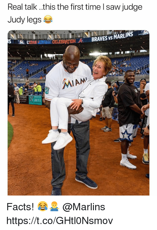 Braves: Real talk ..this the first time l saw judge  Judy legs  İN BRAVES vs MARLINS-  MAL CTANHEEMİGECELEBRATION  2 Facts! 😂🤷‍♂️ @Marlins https://t.co/GHtl0Nsmov