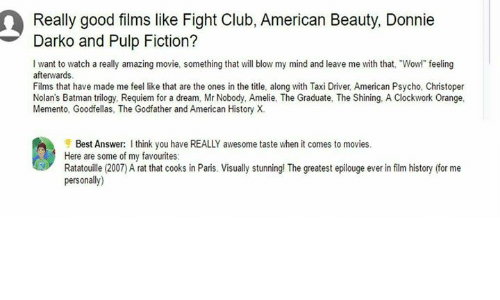 fight club american beauty isu Watch trailers, read customer and critic reviews, and buy american beauty directed by sam mendes for $1499.