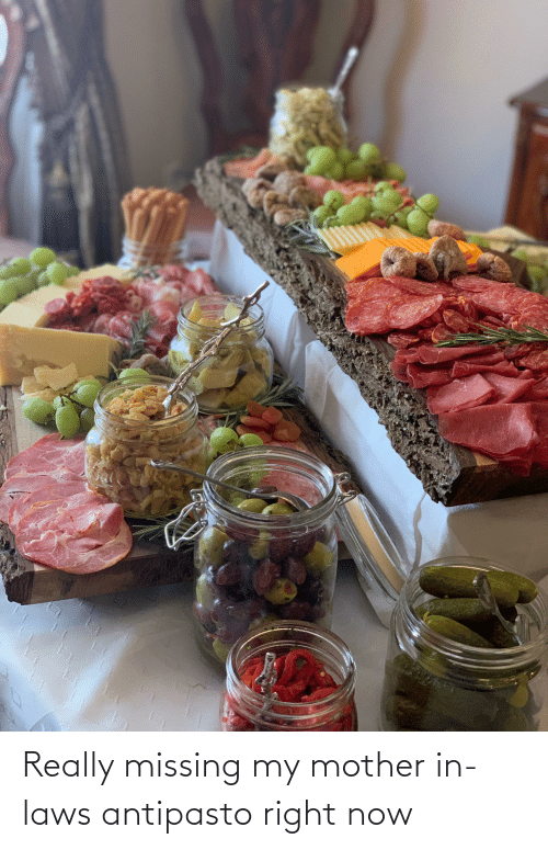 in laws: Really missing my mother in-laws antipasto right now