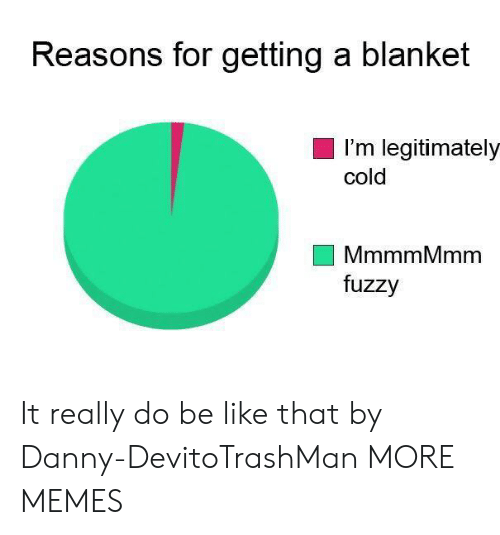 fuzzy: Reasons for getting a blanket  I'm legitimately  cold  MmmmMmm  fuzzy It really do be like that by Danny-DevitoTrashMan MORE MEMES