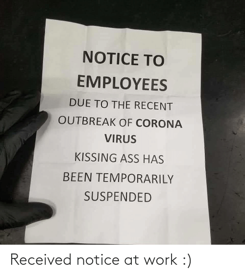 Notice: Received notice at work :)