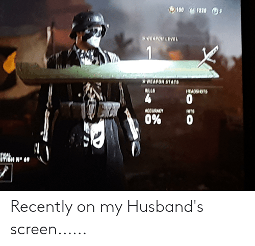 husbands: Recently on my Husband's screen......