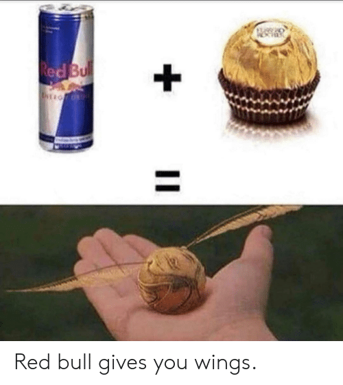 red bull gives you wings: Red Bul  EIOF O Red bull gives you wings.