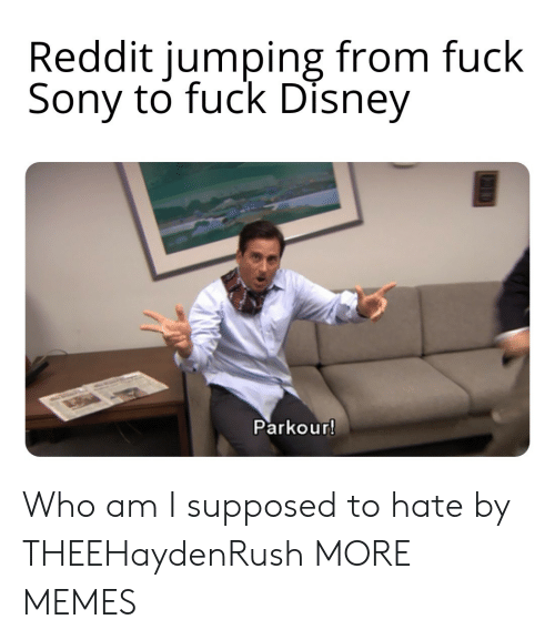 Who Am I: Reddit jumping from fuck  Sony to fuck Disney  Parkour! Who am I supposed to hate by THEEHaydenRush MORE MEMES