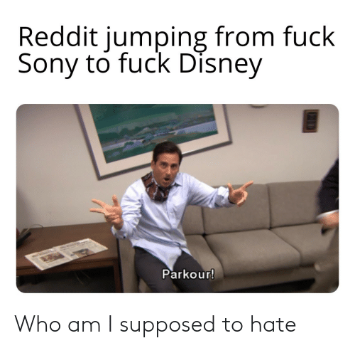 Who Am I: Reddit jumping from fuck  Sony to fuck Disney  Parkour! Who am I supposed to hate