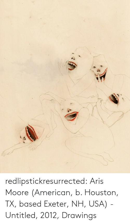 Moore: redlipstickresurrected:  Aris Moore (American, b. Houston, TX, based Exeter, NH, USA) - Untitled, 2012, Drawings