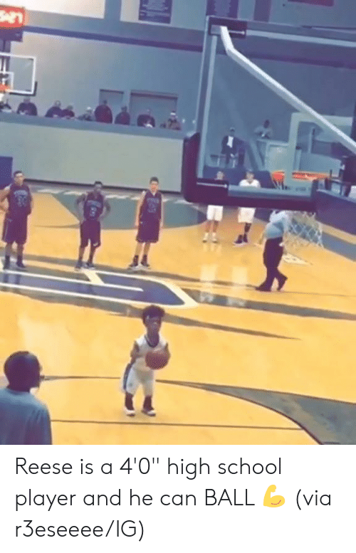 "Reese: Reese is a 4'0"" high school player and he can BALL  💪  (via r3eseeee/IG)"