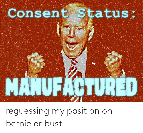 bust: reguessing my position on bernie or bust