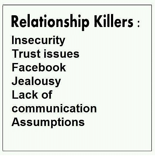 relationship problems trust and jealousy issues
